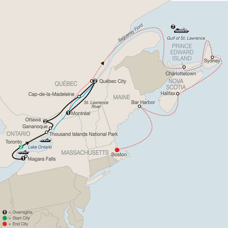 interested in historic cities of eastern canada with canada new england discovery cruise