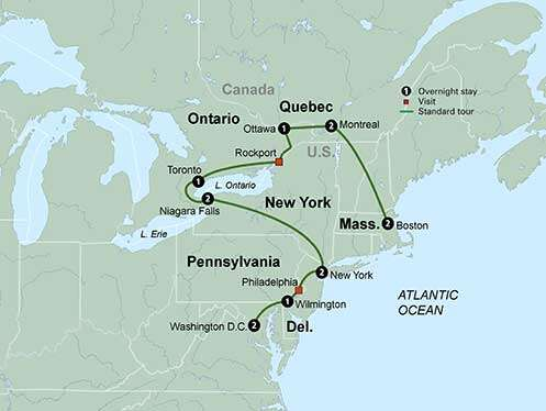 The Best of Eastern U.S. and Canada