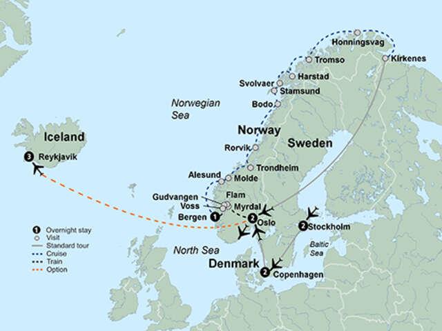 Norwegian Coastal Voyage & Scandinavian Capitals