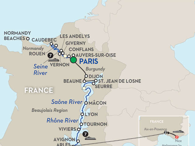 Grand France for Wine Lovers with Aix-en-Provence & Nice