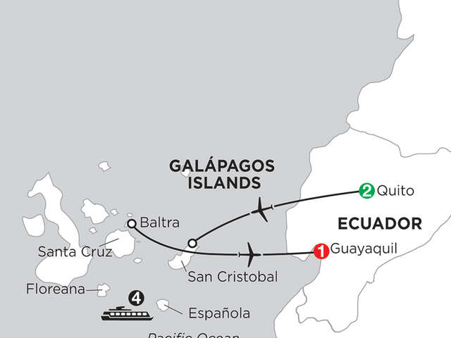 Cruising the Galápagos on the Coral I/II – 4-Night cruise