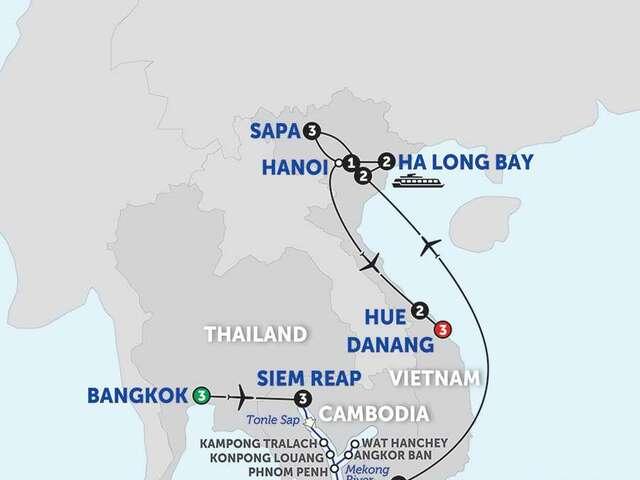 Ultimate Southeast Asia & The Majestic Mekong with Sapa, Hue & Danang - Southbound