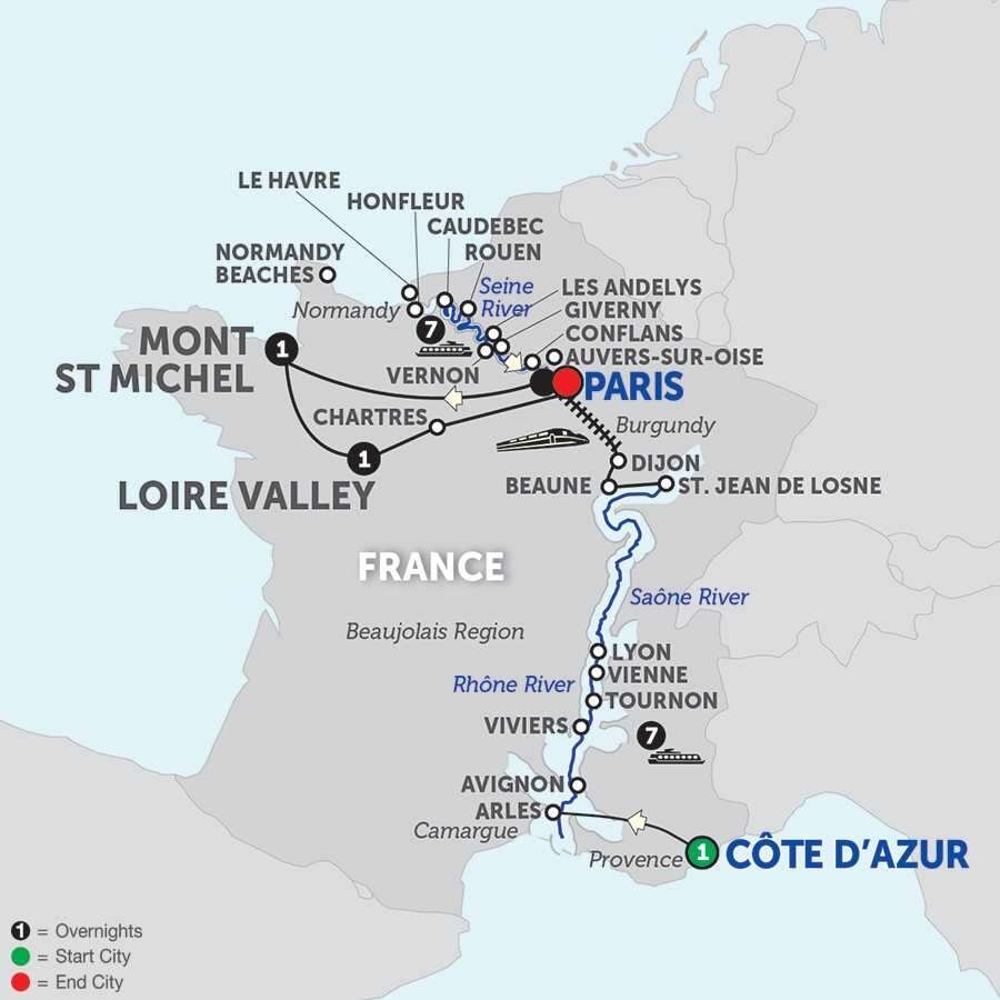Grand France with Mont St. Michel & Loire Valley with Journeys Club Celebration