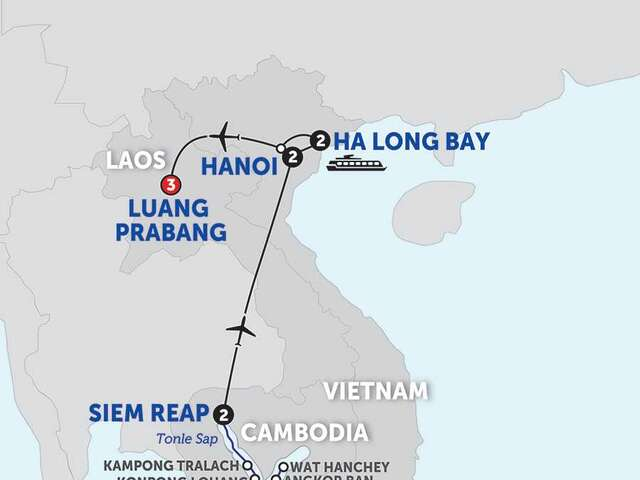 The Heart of Cambodia & Vietnam with Luang Prabang - Northbound