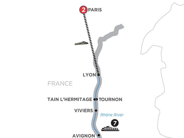 Active Discovery on the Rhône with 2 Nights Paris – Northbound