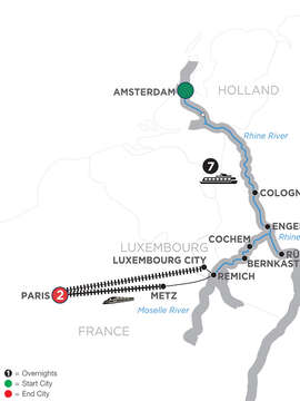Canals, Vineyards & Castles with 2 Nights Paris – Southbound