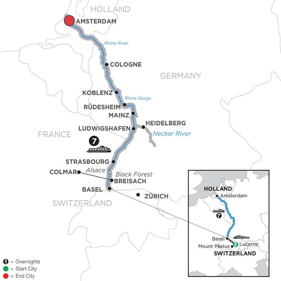 Romantic Rhine with 2 Nights Lucerne – Northbound
