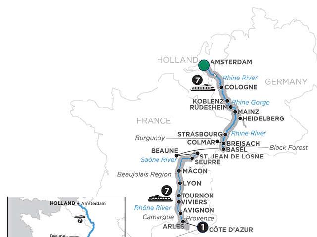 Rhine & Rhône Revealed with 3 Nights Barcelona for Wine Lovers
