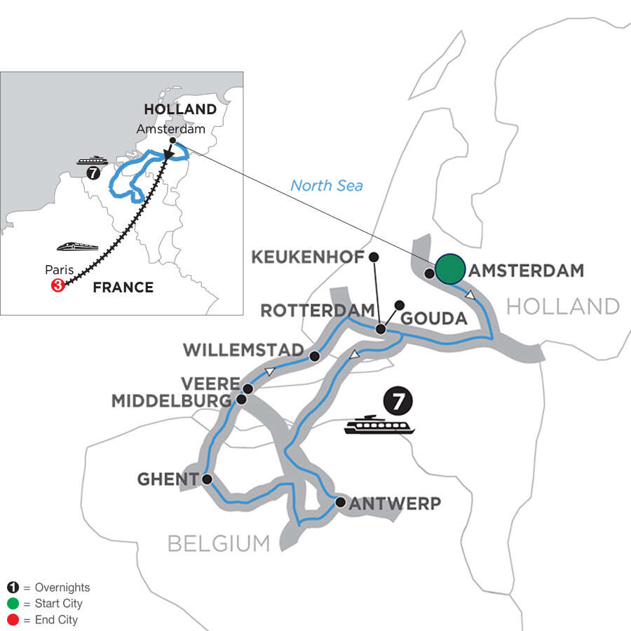 Tulip Time Cruise with 3 Nights Paris for Garden & Nature Lovers