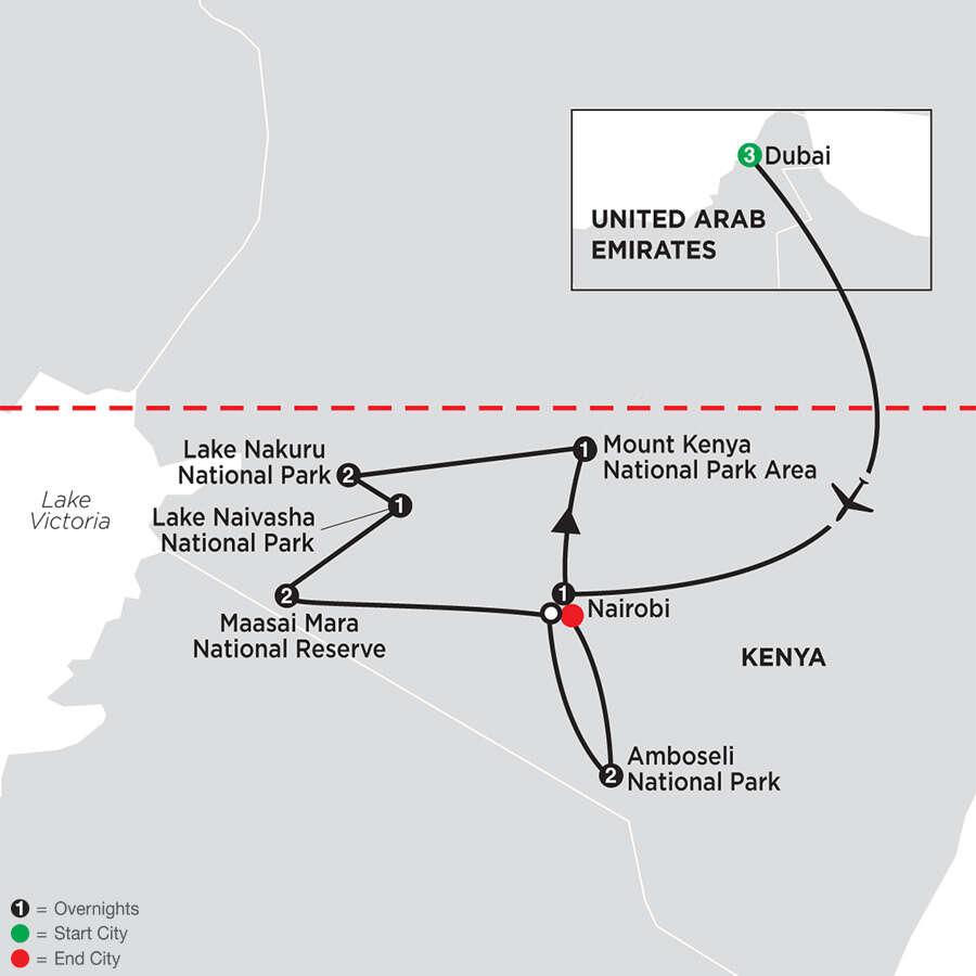 On Safari in Kenya with Dubai & Amboseli
