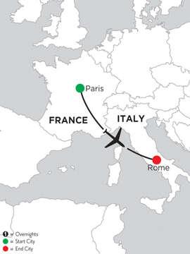 3 Nights Paris & 4 Nights Rome