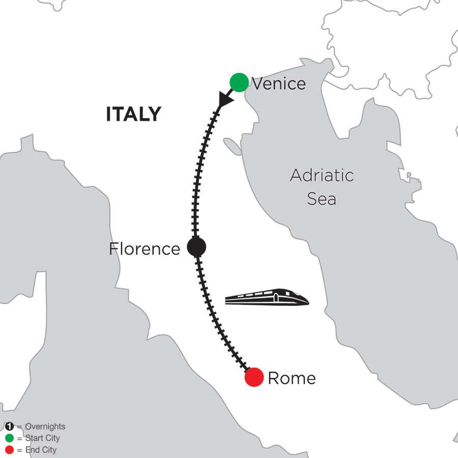 2 Nights Venice, 3 Nights Florence & 5 Nights Rome