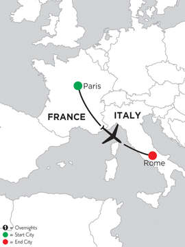 2 Nights Paris & 4 Nights Rome