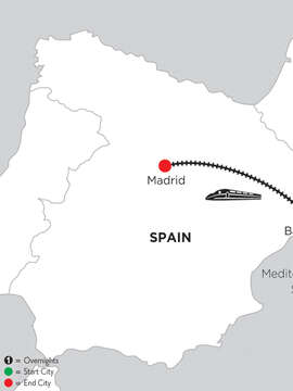 2 Nights Barcelona & 5 Nights Madrid