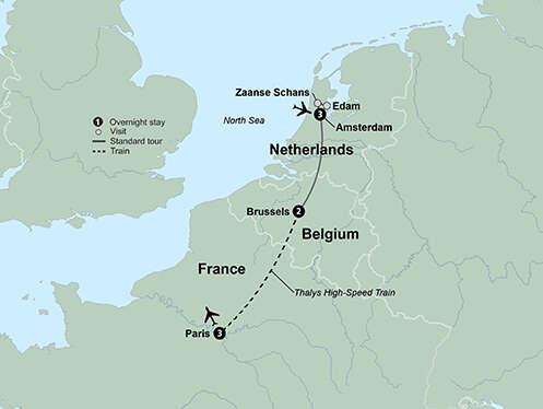 Europe's Cosmopolitan Cities: Amsterdam, Brussels & Paris