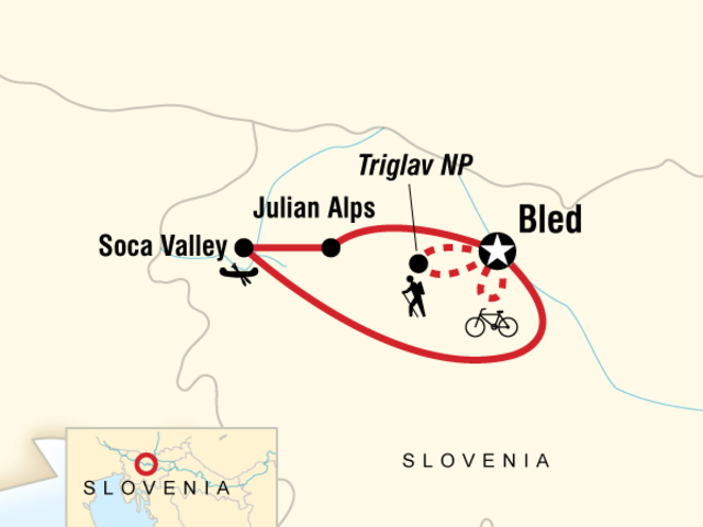 Slovenia Hike, Bike & Raft