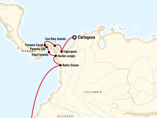 South America Cruise - Guayaquil to Cartagena