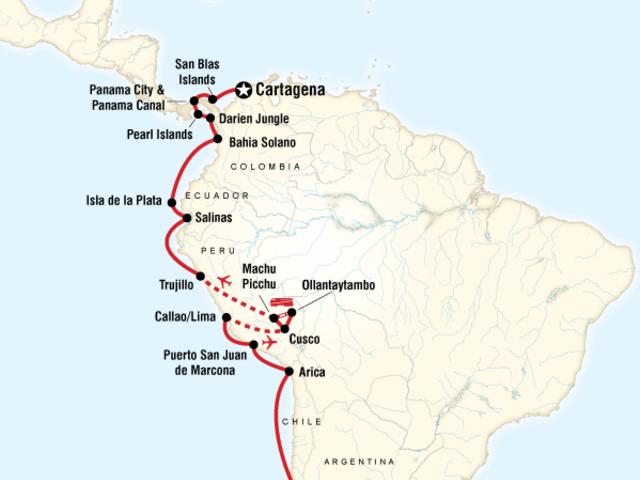 South America Cruise - Santiago to Cartagena