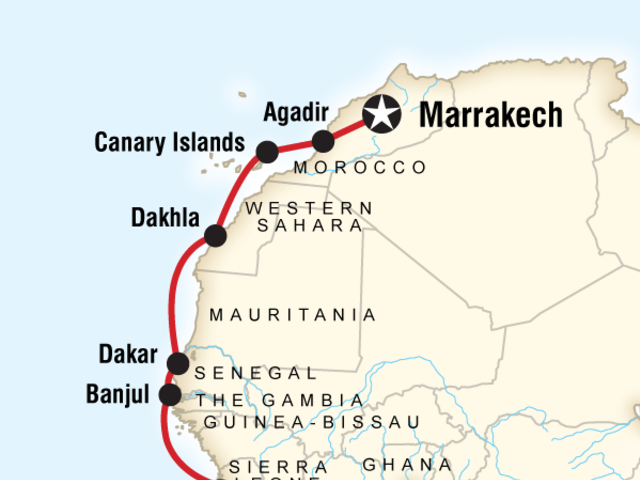 West Africa Cruise - Accra to Marrakech